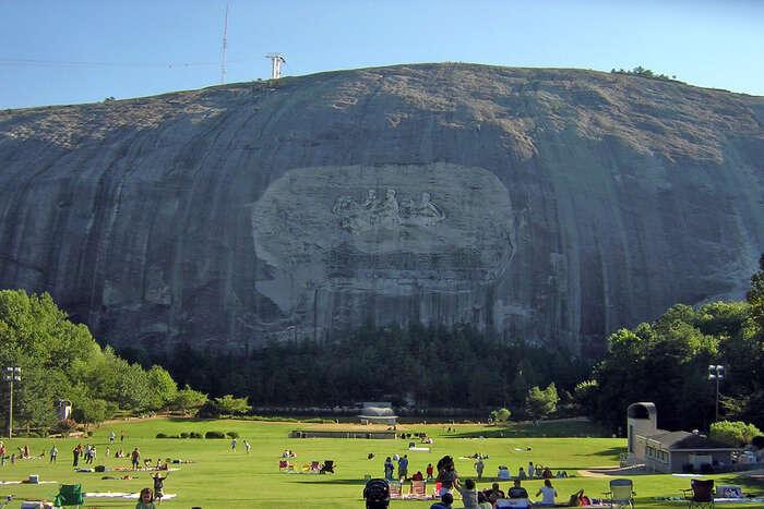View of Stone Mountain Park