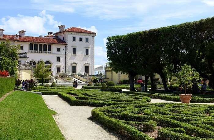 View Of Vizcaya Museum and Gardens