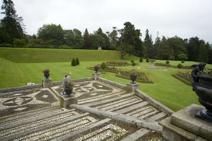 Walk at the Powerscourt Estate and Gardens