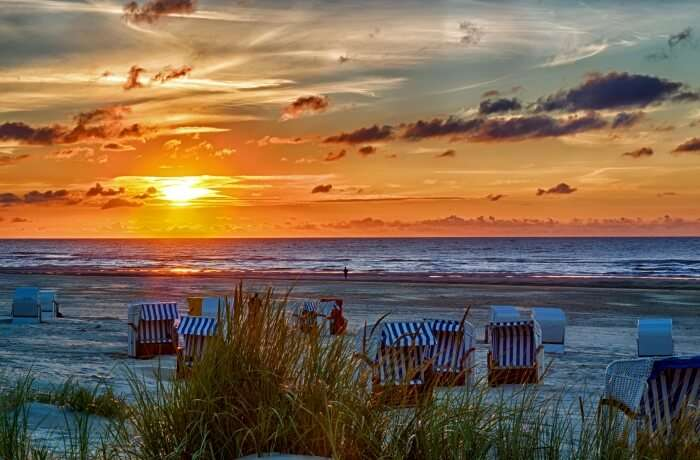 Watch the sunrise or the sunset at the Frisian Island