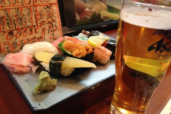 Bob Japanese Beer Sushi Fish