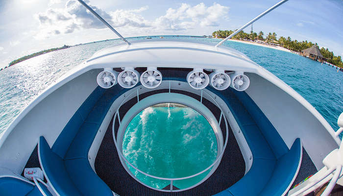 Admire corals through a Glass Bottom Boat