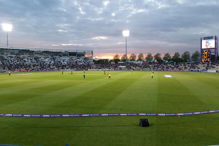 Cricket stadium view
