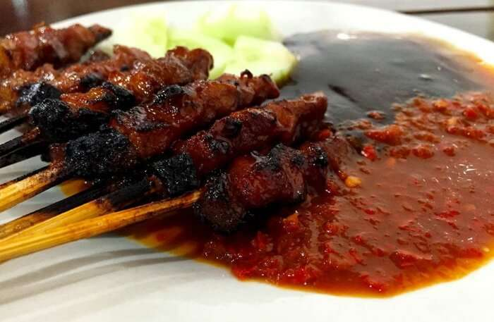 hot grilled meat