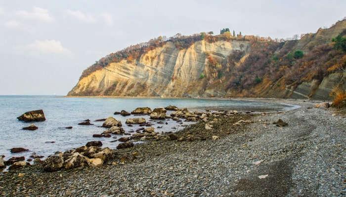 Bele Scale Beach in Slovenia