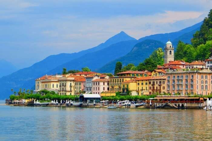 Port Lake Water Italy Como Village Bellagio