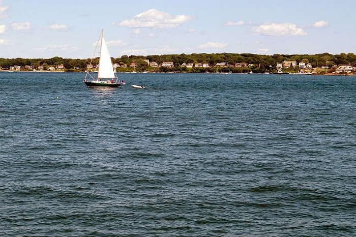 beautiful bay in Maine
