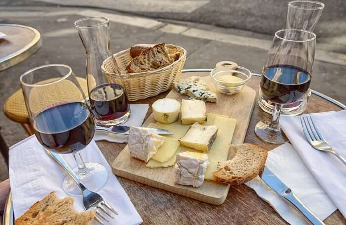 Cheese and wine is the way to go