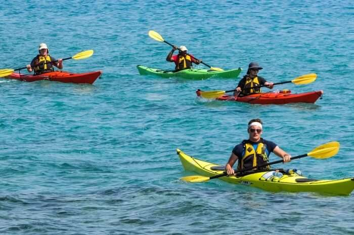 Crystal water kayaks