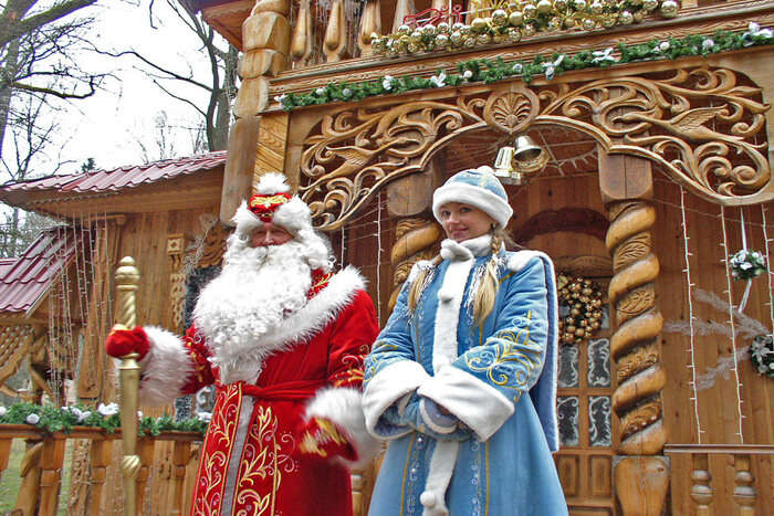 Ded Moroz Parade in Moscow