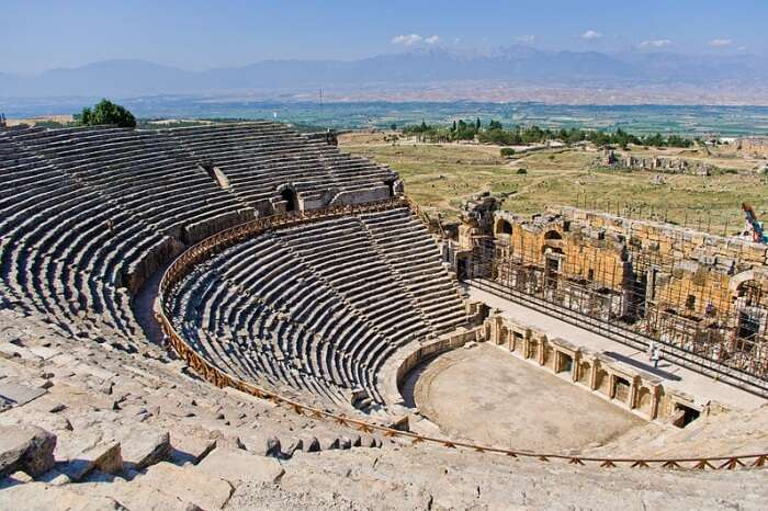 Explore what's left of the Hierapolis Theatre