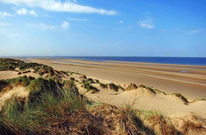 Formby Beach in liverpool