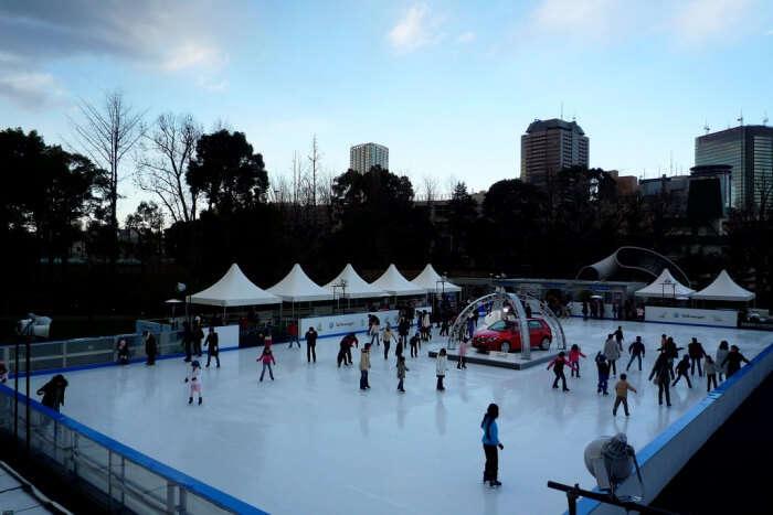 Go ice skating in Tokyo