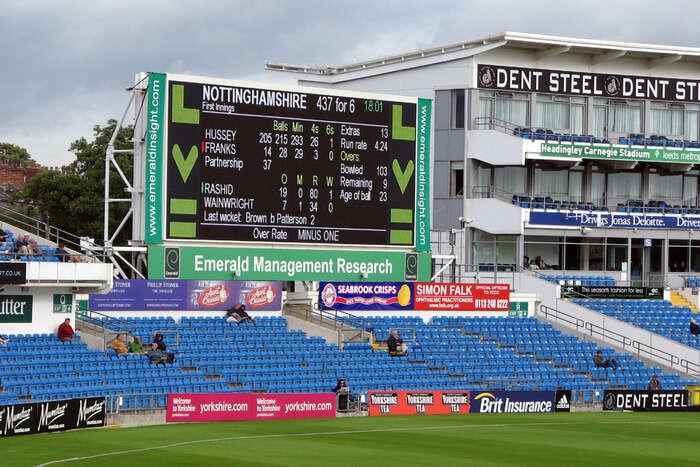 Cricket stadium stands