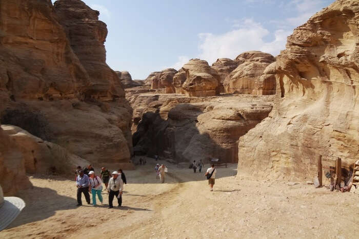 Hiking at Petra