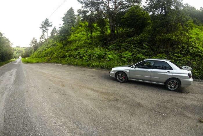 Car and road