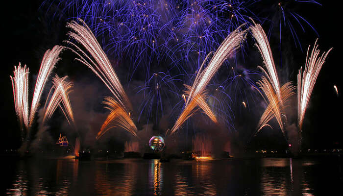 Fireworks Near River