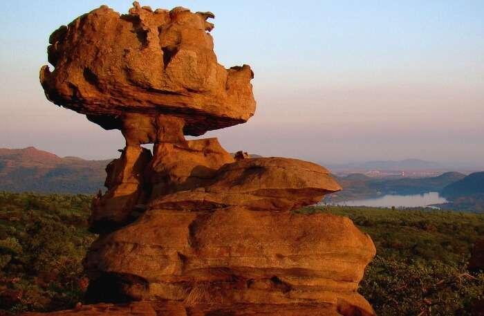 Beautiful nature rock