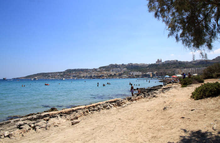 Mellieha Bay In Malta
