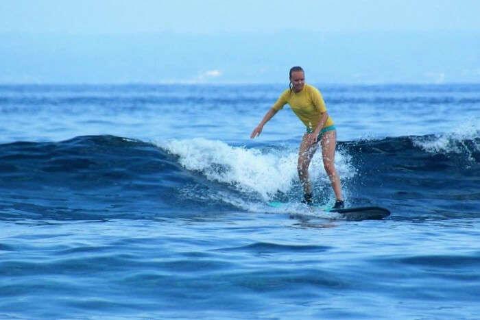 Monkey Surfing At Nusa Lembongan
