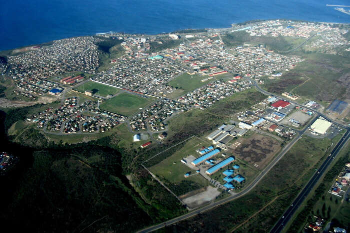An Aerial view of Mossel Bay in South Africa