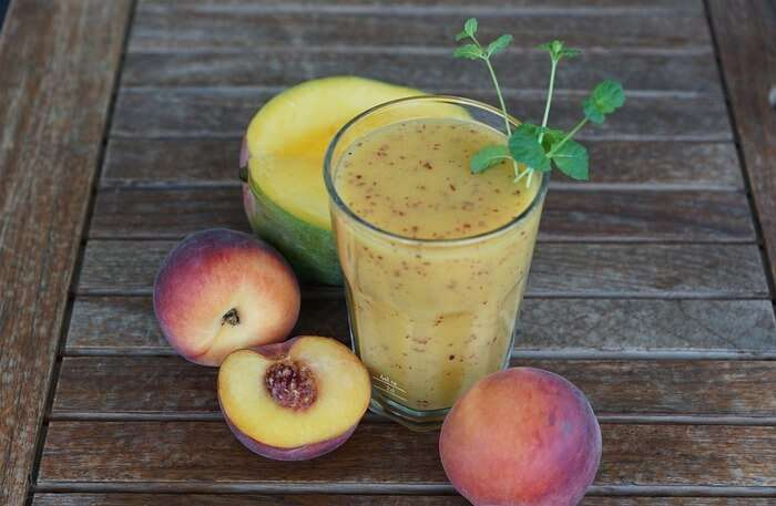 Fruit Glass Peach Drink