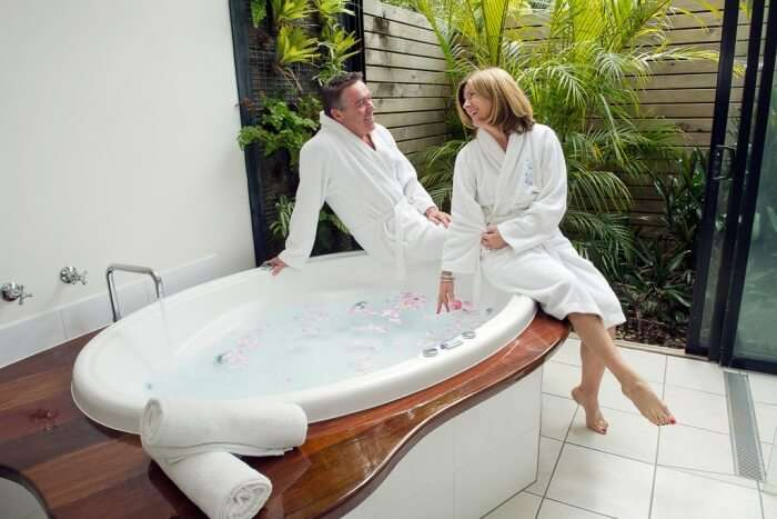 Once you are done hopping, relax with an awesome couple spa