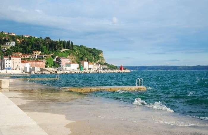 Piran Beach view