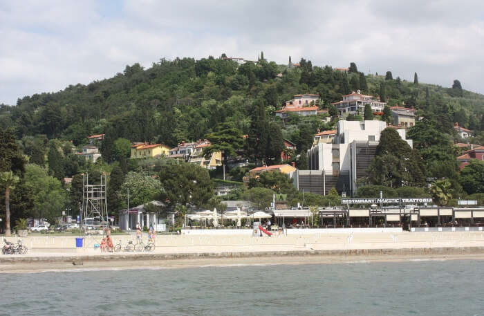 Portorož Beach in Slovenia