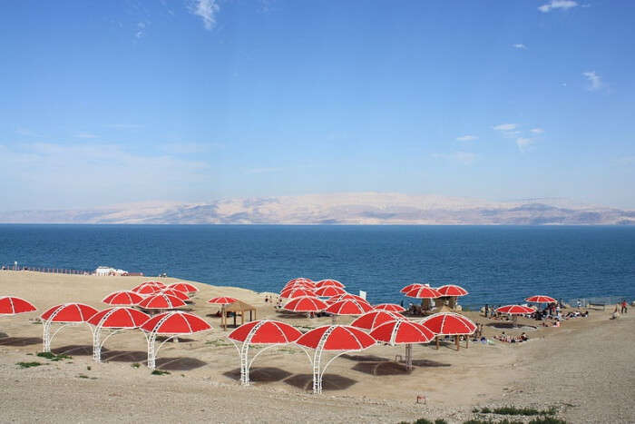 Relaxing at the Dead Sea Beaches