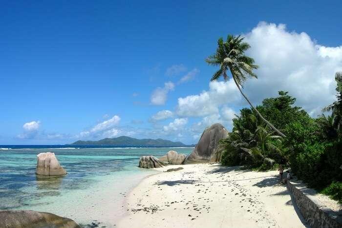 Seychelles beach view