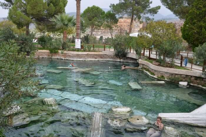 Soak in the antique pool of Pamukkale
