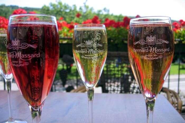 Taste The Sparkling Wine