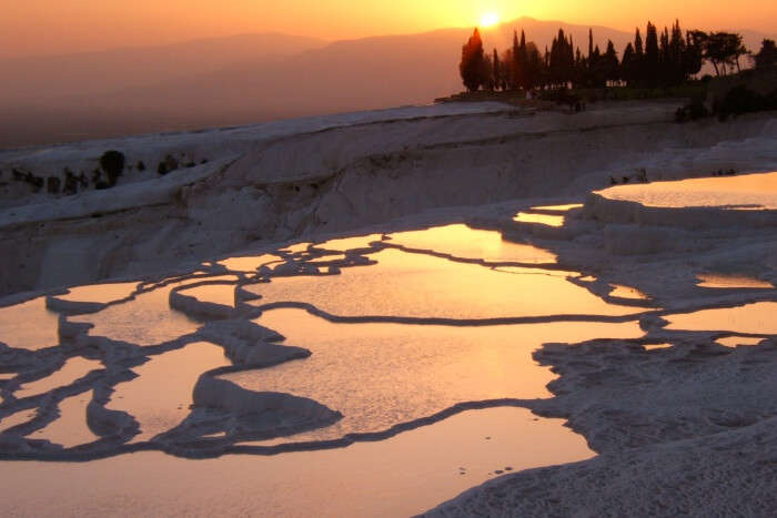 Travertine Sunset