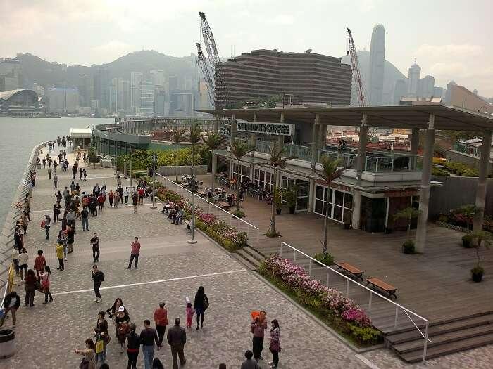 skyline form Tsim Sha Tsui promenade