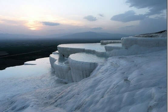 Turkey Cotton Castle or Pamukkale Travertines