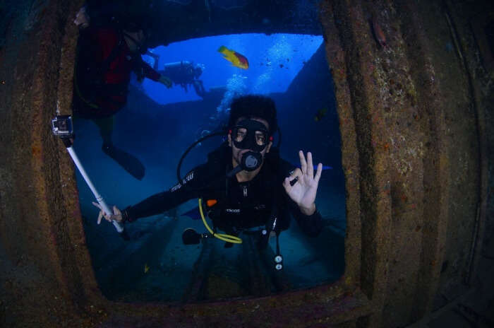 Blue Diving Deep Dive At The Bottom Of The Ocean