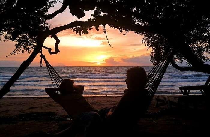 Sunset view at beach