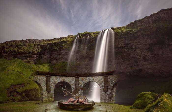 Waterfall Temple
