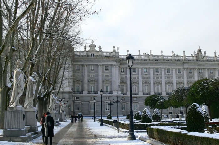 Winter Weather In Madrid Spain