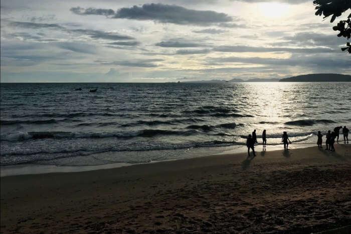 beach in thailand night