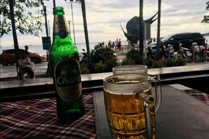 at the chang bar beer