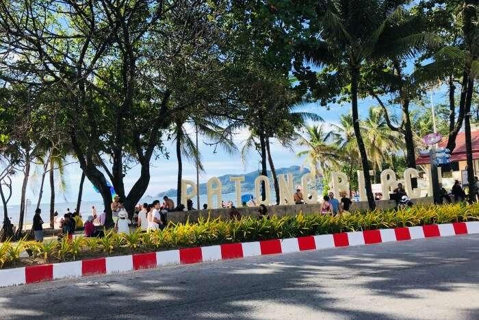 patong beach scenic view