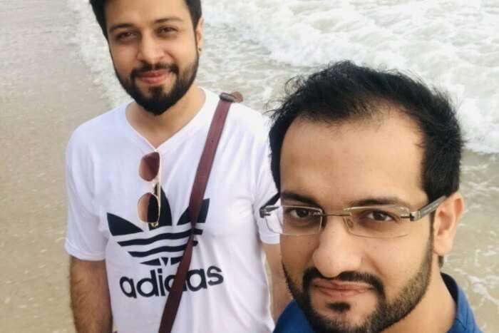 selfie at beach