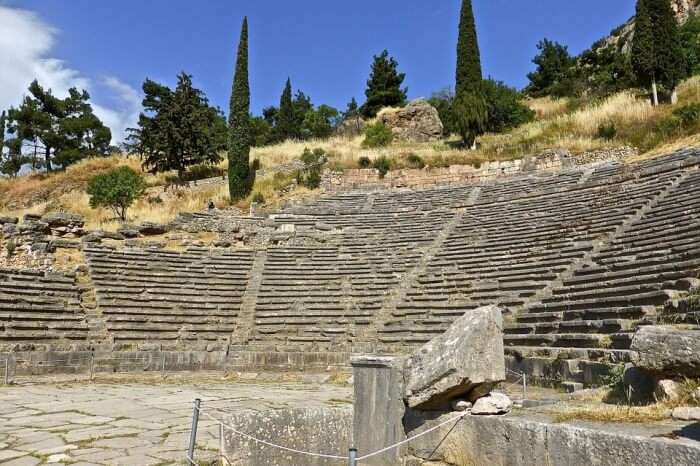 Ancient Amphitheatre Ruins Heritage Roman Delphi