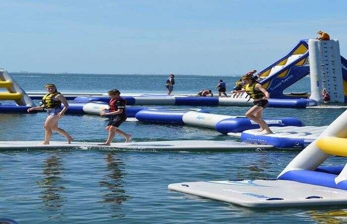 Aqua Splash Inflatable Water Park