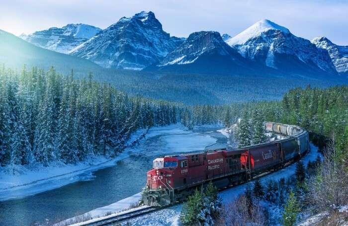 Beautiful Banff Rail & Drive