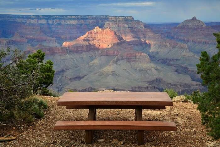 Grand canyon picnic sspot