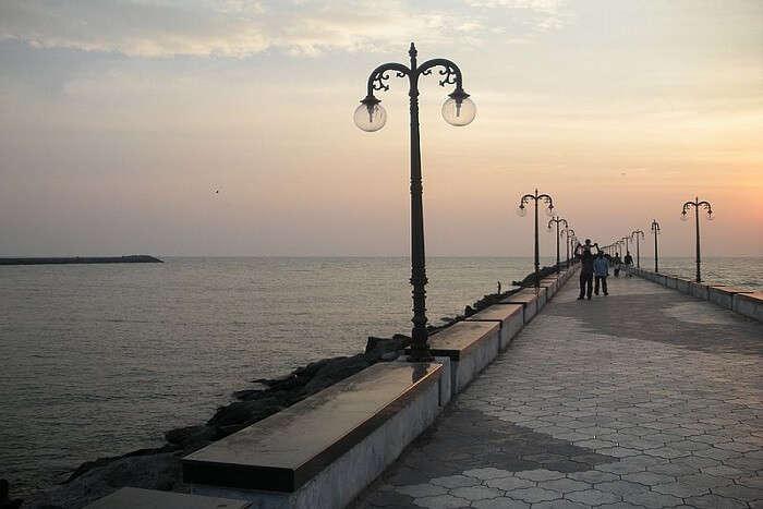 famous beach near Coimbatore