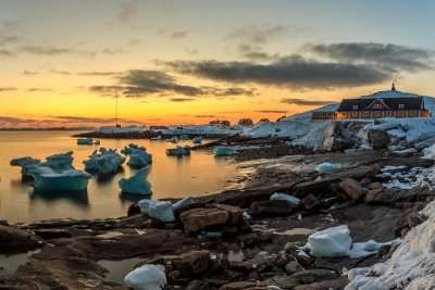 beautiful beach view in Greenland